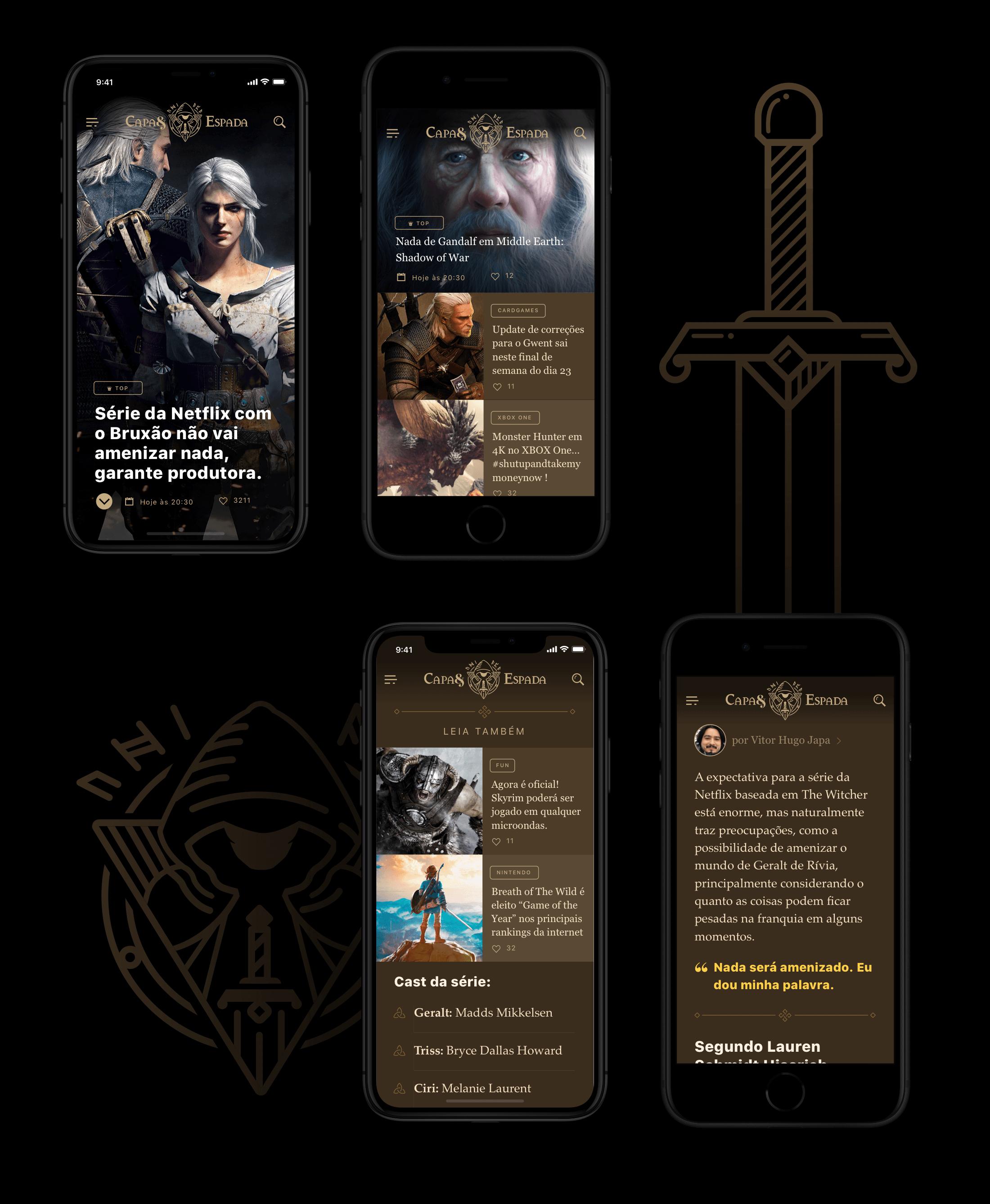 Capa & Espada no iPhone X