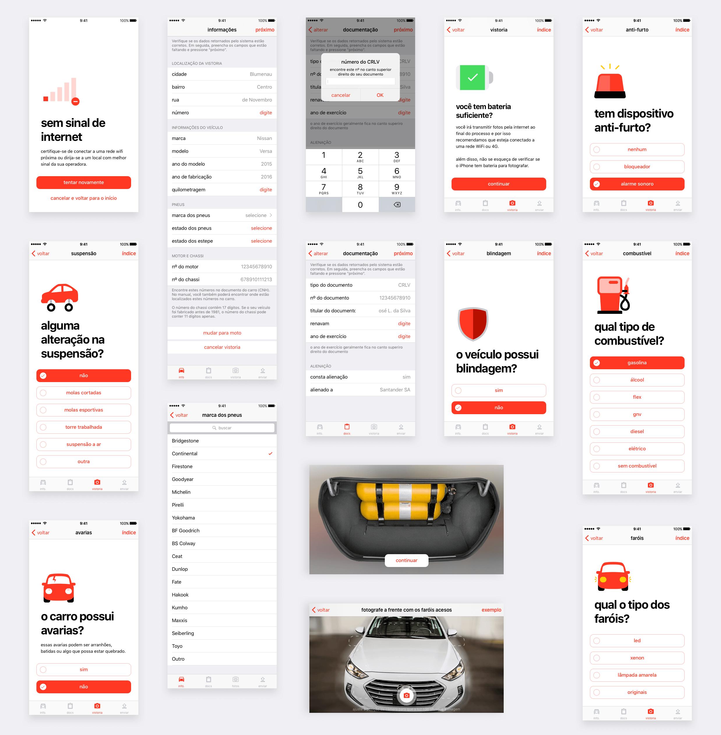 App autoVistoria para iOS