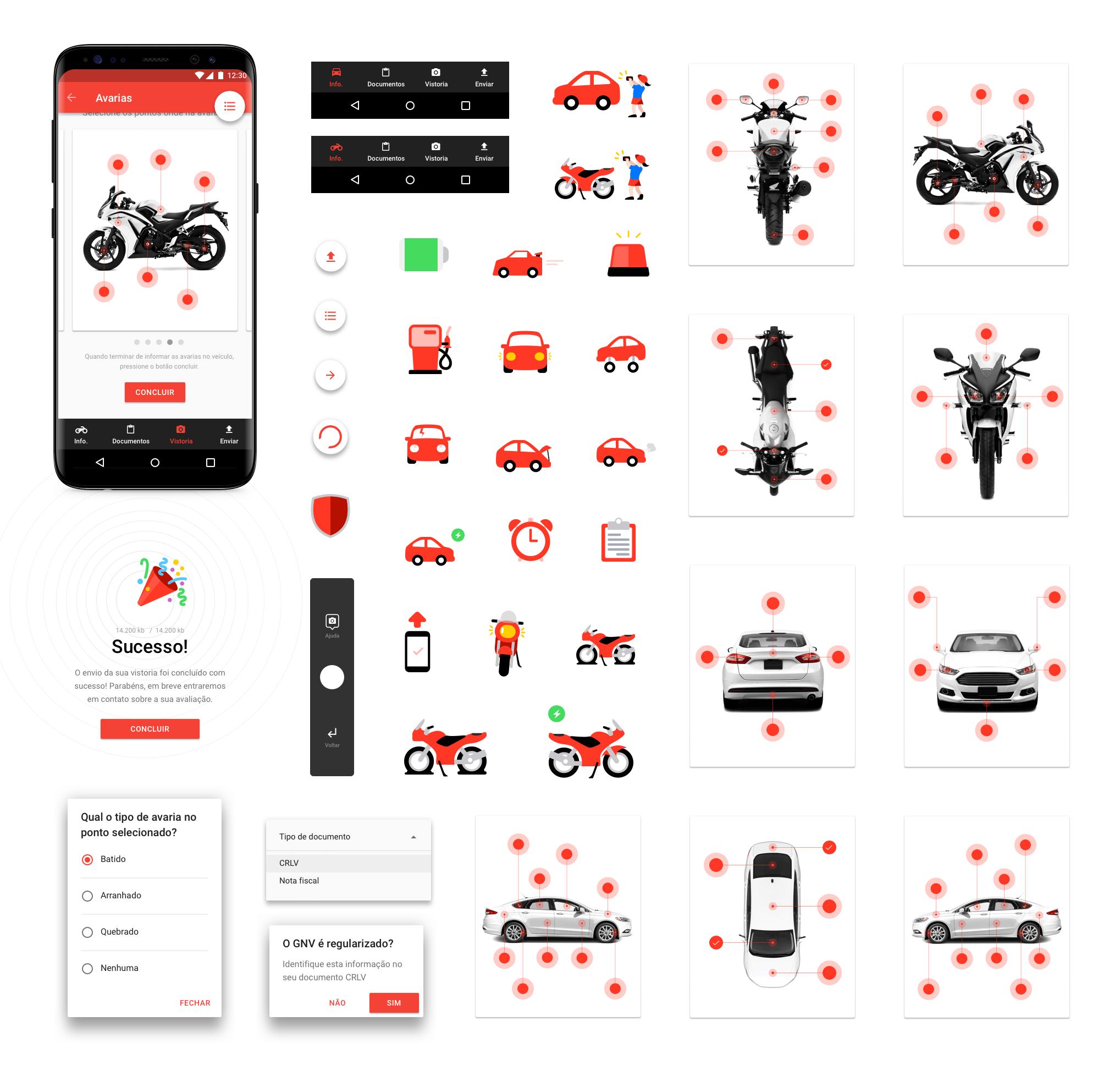 Visão geral dos componentes do app para Android