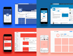 Download YouTube Facebook Linkedin and Instagram SketchApp Templates